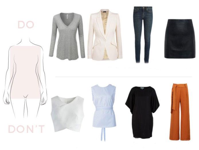 Mẫu quần áo thích hoặc tránh cho hình thái H
