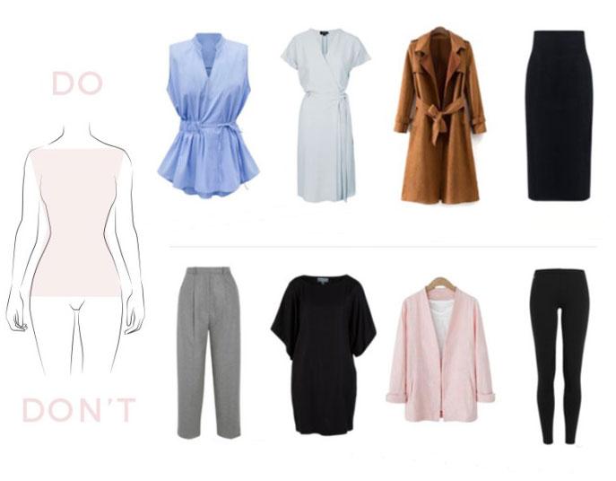 Mẫu quần áo thích hoặc tránh cho hình thái X